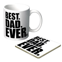 Best Dad Ever Mug and Coaster - gift boxed