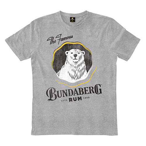 The Famous Bundaberg Rum Logo TShirt - Grey Marle