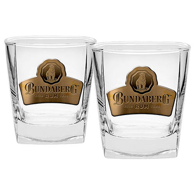 Bundaberg Rum Set of 2 Badged Spirit Glasses