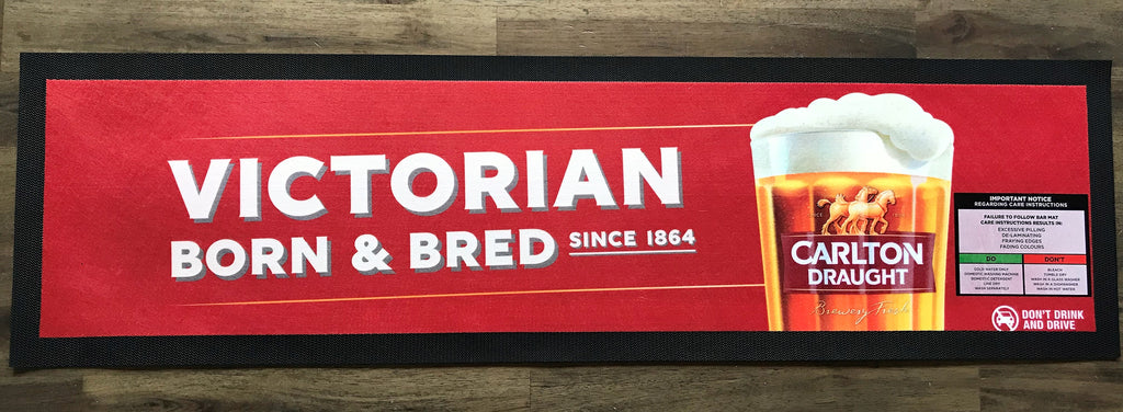 Carlton Draught Brewery Bar Runner