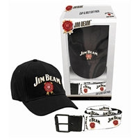 Jim Beam Mens Cap & Belt  Gift Pack