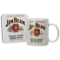 Jim Beam Mug and Coaster - gift boxed