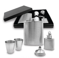 Stainless Steel Hip Flask Gift Set