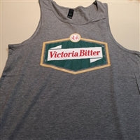 VB Logo Singlet - Grey NEW DESIGN