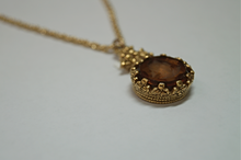 Load image into Gallery viewer, Vintage Intaglio Pendant With Chain