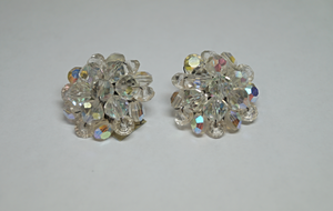 Elegant Crystal Bead Fashion Clip-On Earrings