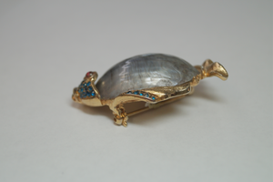 Gold Plated Fish Shell Brooch