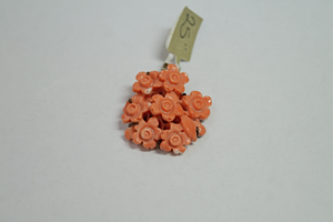 Wilcox Jewelers Coral Carved Roses Pendant