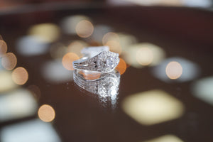 Engagement Ring | 14K White Gold Diamond Ring