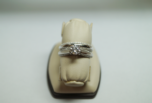 14K White Gold Engagement Set