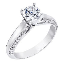 Load image into Gallery viewer, 14K White Gold Engagement Set