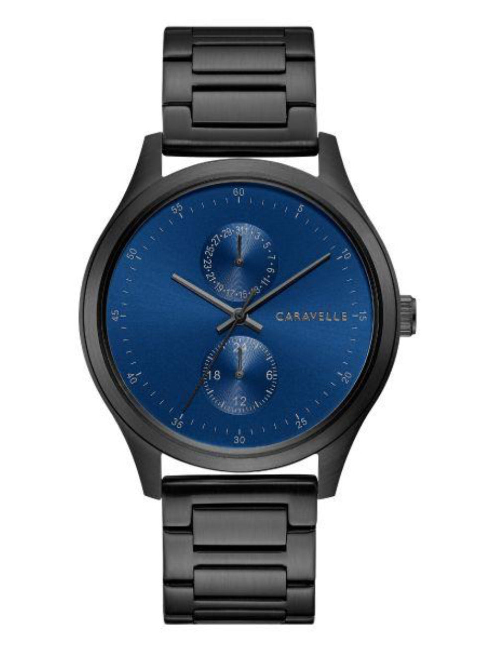 Men's Black & Blue Caravelle Watch