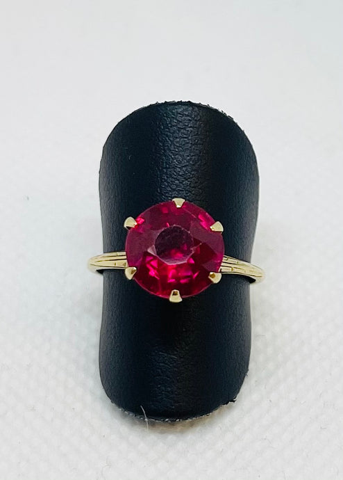 Synthetic Ruby Vintage Ring