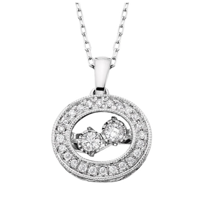 Double Dancing Diamond Necklace