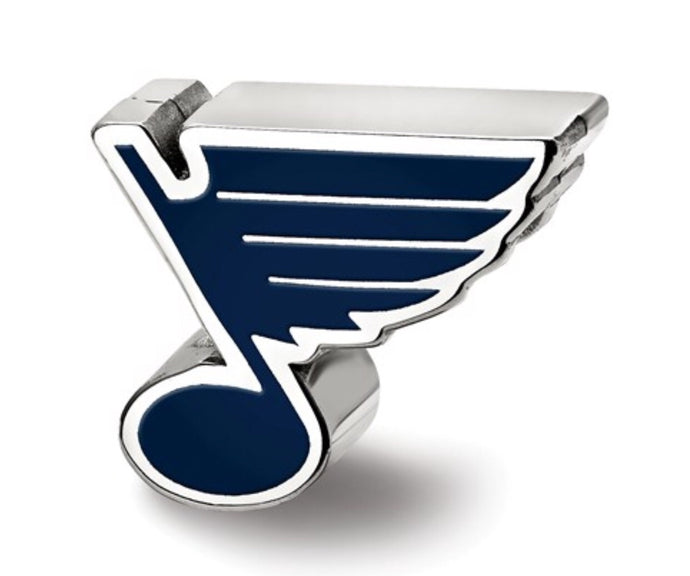 St. Louis Blues Sterling Silver Enamel Reflection Bead