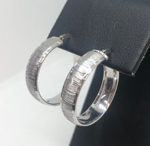 Load image into Gallery viewer, White Gold Hoop Earrings