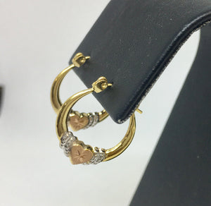 Black Hills Gold Heart Hoop Earrings