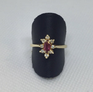 Marquise Ruby Diamond Ring