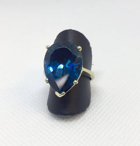 Large London Blue Topaz Fashion Ring