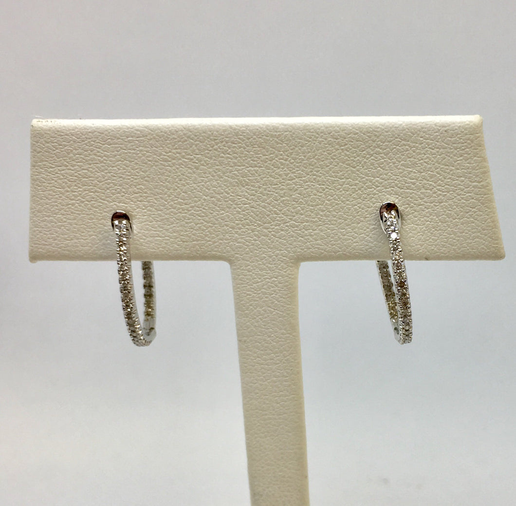Inside-Out Huggie Diamond Hoop Earrings