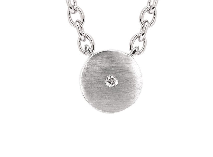 Sterling Silver Satin Round Necklace