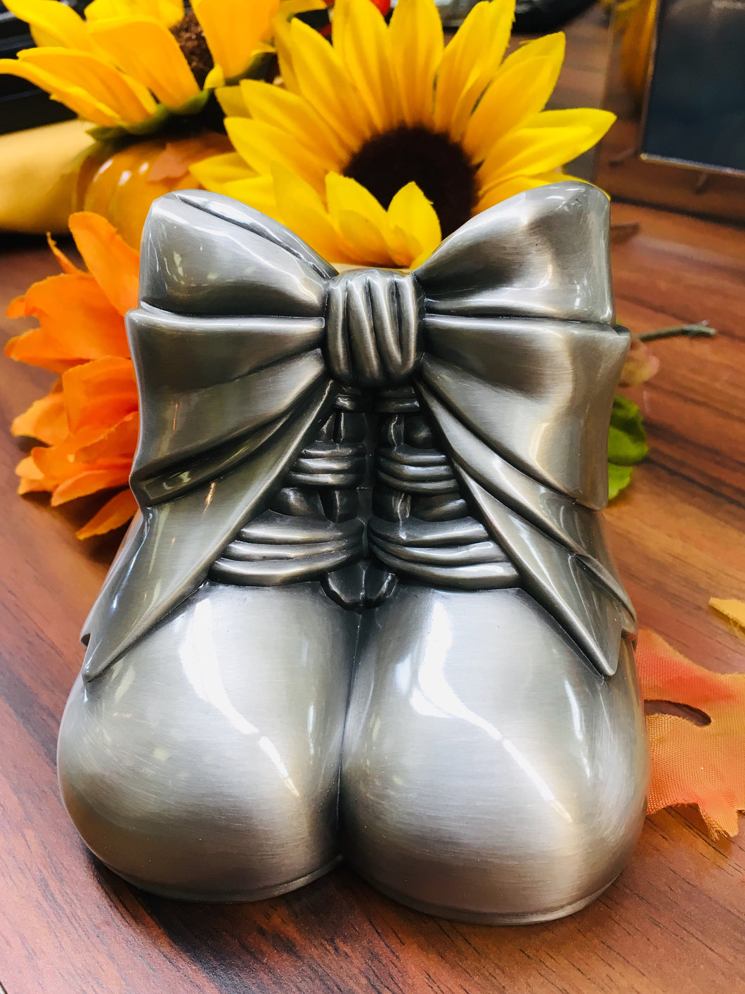 Pewter Baby Shoes Baby Bank