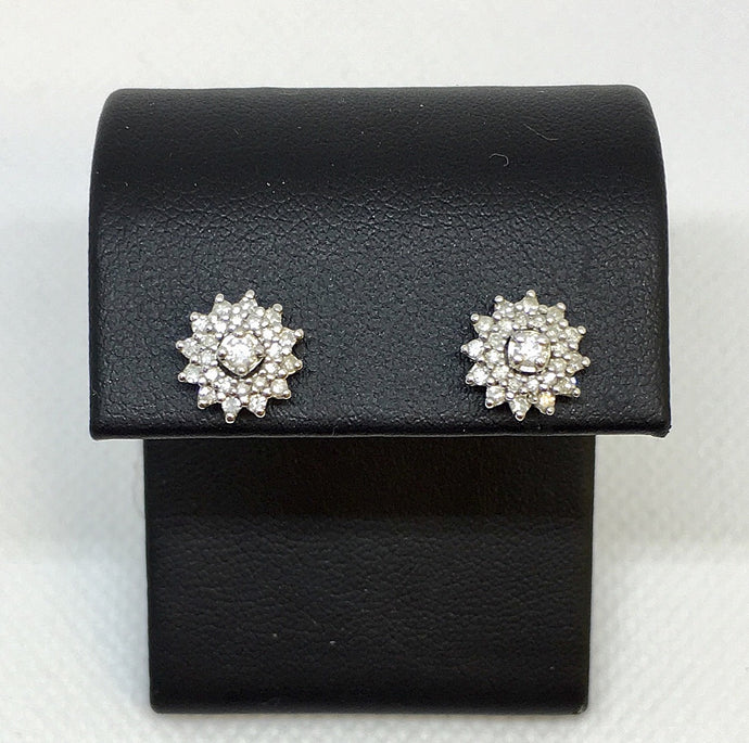 Double Halo Jacket Diamond Earrings