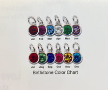 Load image into Gallery viewer, Round Coin Birthstone Charm
