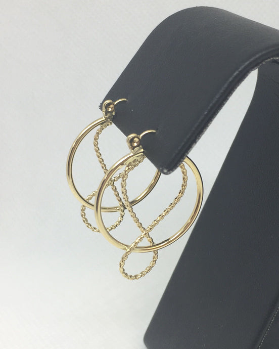 Rope Textured Hoop Earrings