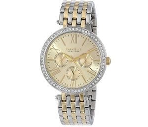 Women's Two-Tone Champagne Dial Caravelle Watch