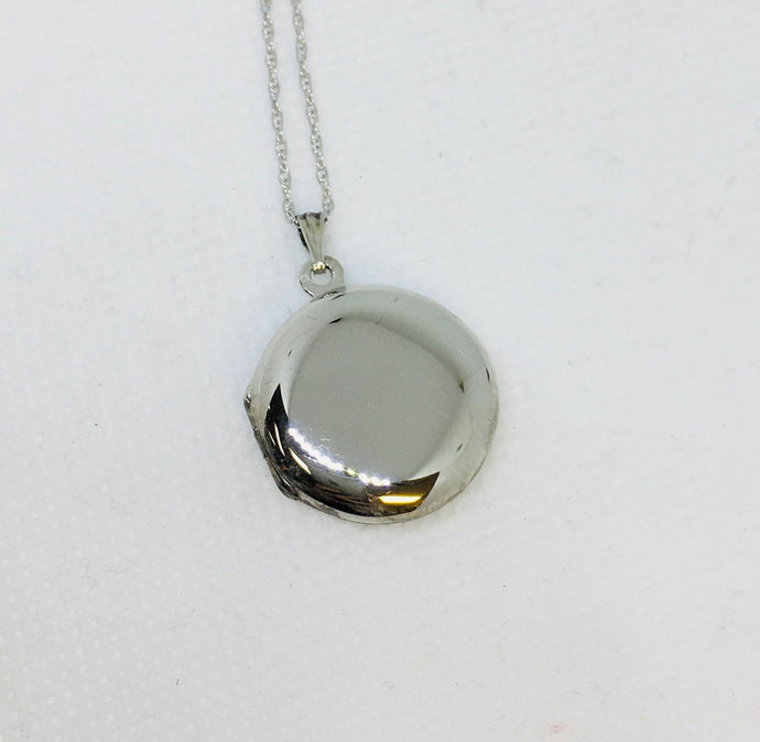 Sterling Silver Round Locket