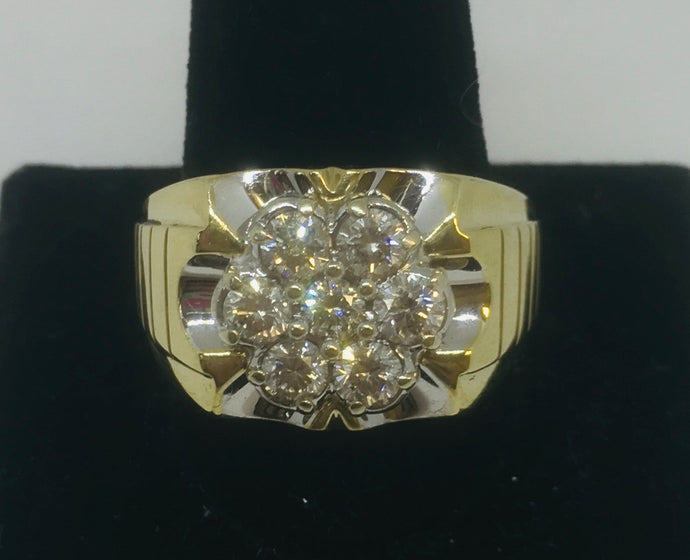 Man's Cluster Diamond Ring