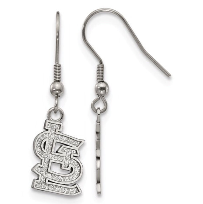 St. Louis Cardinals Stainless Steel Dangle Earrings
