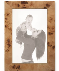 Tan Burl Wood Photo Frame