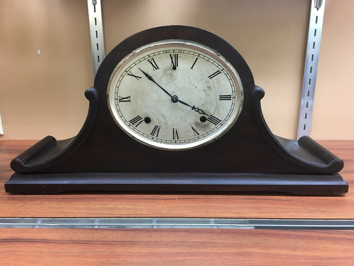 Vintage Oval Dial Camel Back Mantle Clock