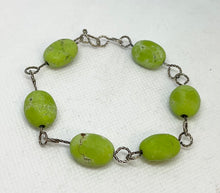 Load image into Gallery viewer, Green Turquoise Earring & Bracelet Set