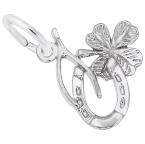 Sterling Silver Symbols of Luck Charm