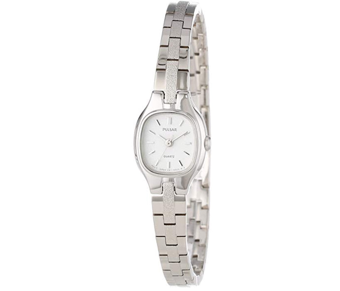 Women's White-Tone Pulsar Watch