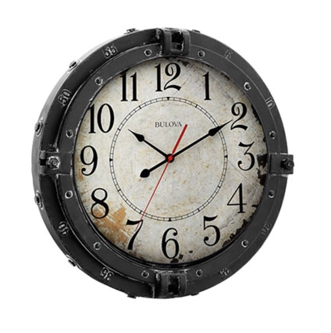 Metal Case Bulova Wall Clock