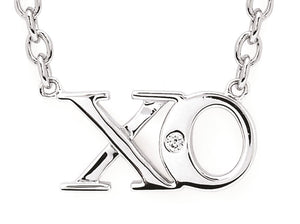Sterling Silver XO Necklace