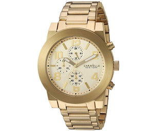 Men's All Yellow Caravelle Watch