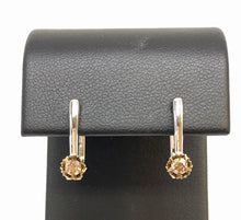 Load image into Gallery viewer, Brown Diamond Huggie Earrings