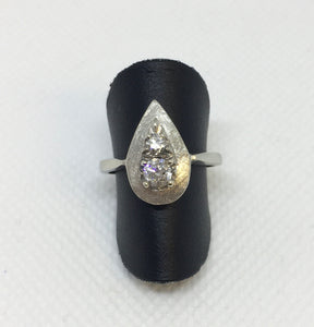 Vintage Pear-Shape Diamond Ring