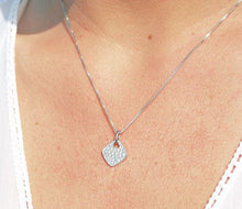 Load image into Gallery viewer, Sterling Silver Diamond Shape Hammered Pendant