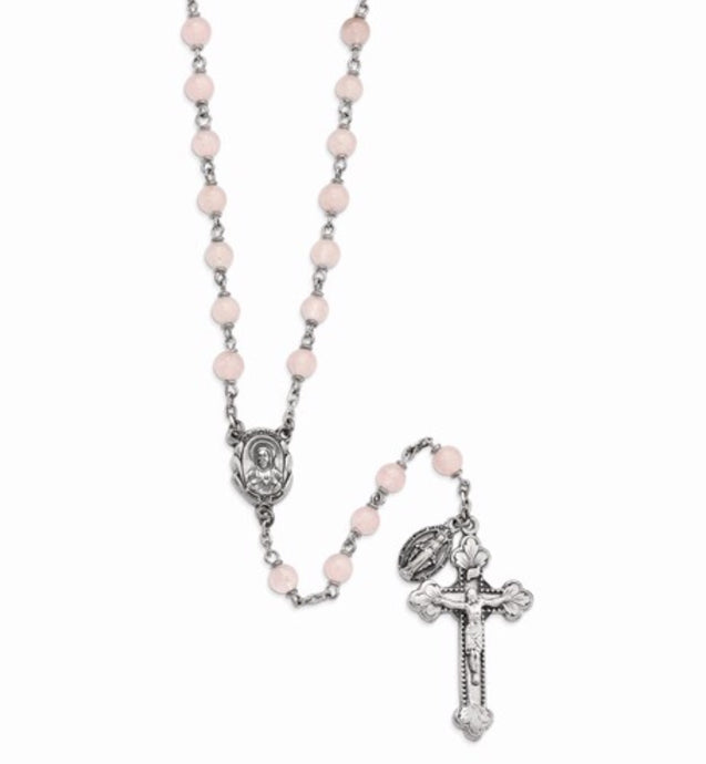 Peace & Forgiveness Rose Quartz Rosary