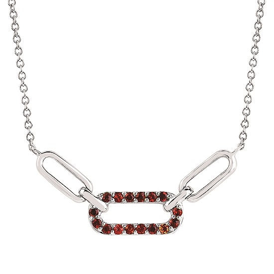 Garnet Linked Necklace