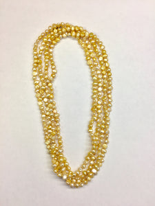 Yellow Dyed Pearl Strand