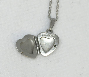 Sterling Silver Detailed Heart Locket