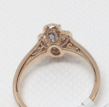 Load image into Gallery viewer, Blue Topaz & Diamond Fashion Ring