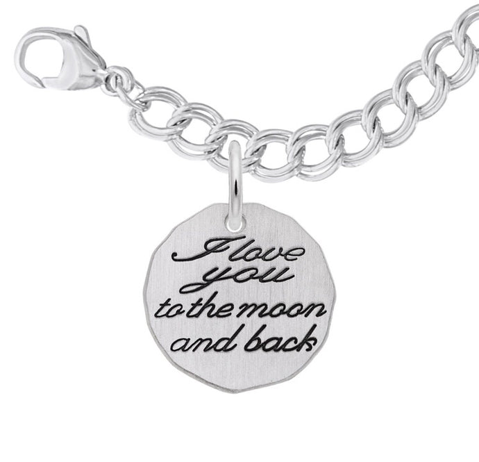 Moon and Back Charm & Bracelet Set